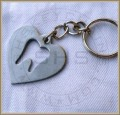Dental Heart Tag with Tooth Insert Keychain