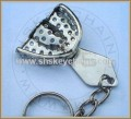 Impression Tray Keychain , Small, Perforated