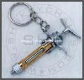 Dental Syringe Keychain, Gold Plated Barrel