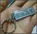 Xray Keychain, Silver Plated