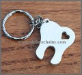 Cute Wooden Tooth Keyring with heart