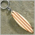 Wooden Surfboard keychain