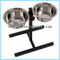 Dog Dish Stainless Steel with Stand for Two Dogs