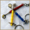 Mouth Mirror Keychain Plastic Ergnomic Style Handle