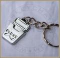 Dental Floss Keychain Flat, Silver