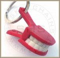 Smiling Jaw Keychain Clip