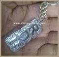 RDH keychain, silver Plated