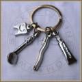 Dental Hygienist Charms Keychians Silver
