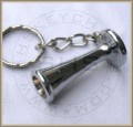 Pinard Foetoscope Miniature Keychain, Silver Plated