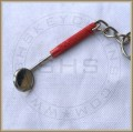 Mouth Mirror Keychain-Red