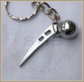 Hip Prosthesis Orthopaedic Keychain, Silver Plated