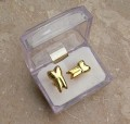 Tooth Shape Cufflinks, Gold Plated