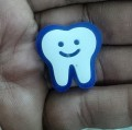 Double Layer Smiling Tooth Lapel Pin - Acrylic