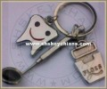 Dentist Charms Keychins, (Floss, Mirror, Smiley)