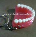 Keychain Denture, Plastic, with white Teeth