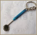Mouth Mirror Keychain-Turquoise